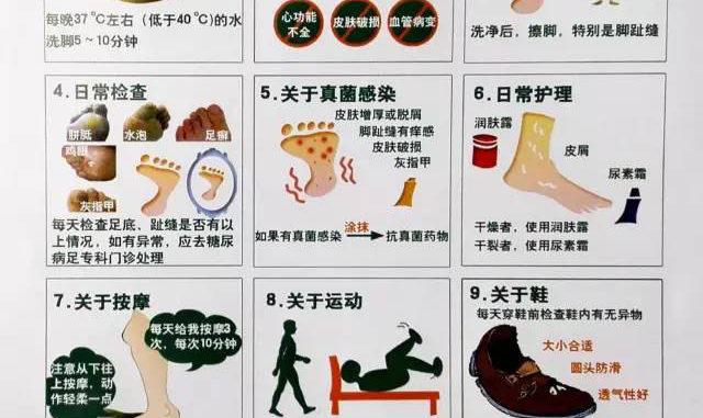 糖尿病患者标准化足部护理健康教育